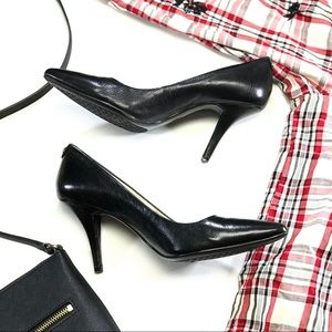 MICHAEL Michael Kors Shoes - •MICHAEL MICHAEL KORS• Black and Silver Heels